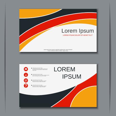 Plantilla de diseño de vector de tarjeta de visita de negocios moderna Ilustración de vector