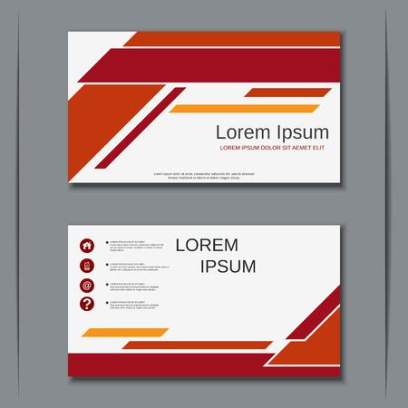 Moderne Business-Visitenkarten-Vektor-Design-Vorlage