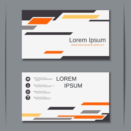 Moderne Geschäftsbesuchskartenvektor-Entwurfsschablone