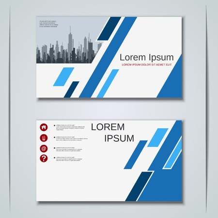 Modern abstract geometric style business visiting card, label, sticker, badge vector design template Vektorové ilustrace