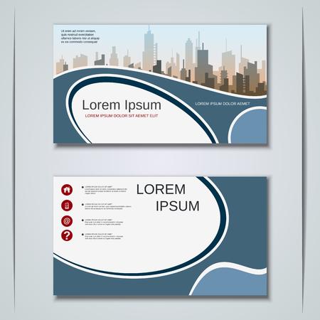 Carte de visite d'affaires de style géométrique abstrait moderne, étiquette, autocollant, modèle de conception de vecteur d'insigne Vecteurs