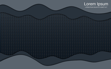 Abstract style technology black plastic vector background