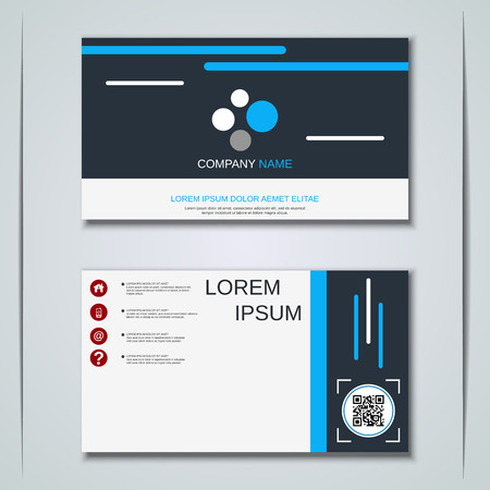 Modern abstract geometric style business visiting card, label, sticker, badge vector design template Vector Illustration