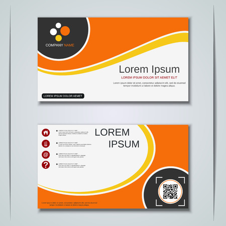 Modern abstract geometric style business visiting card, label, sticker, badge vector design template Иллюстрация