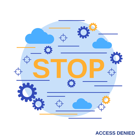 Access denied flat design style vector illustration
