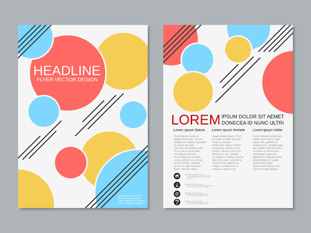 Modern professional two-sided flyer vector design template