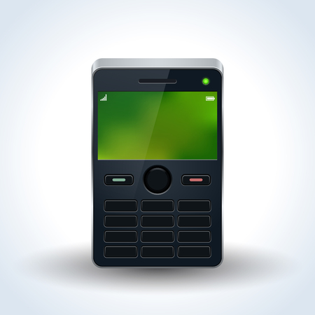 Old mobile phone realistic vector icon Illustration