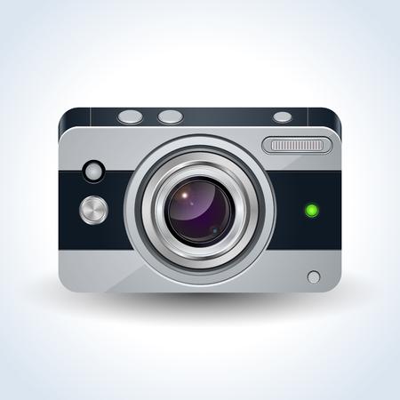 Realistic digital photo camera vector illustration