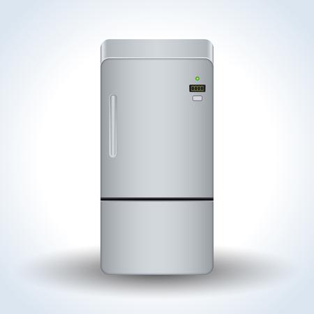 Home refrigerator realistic vector icon