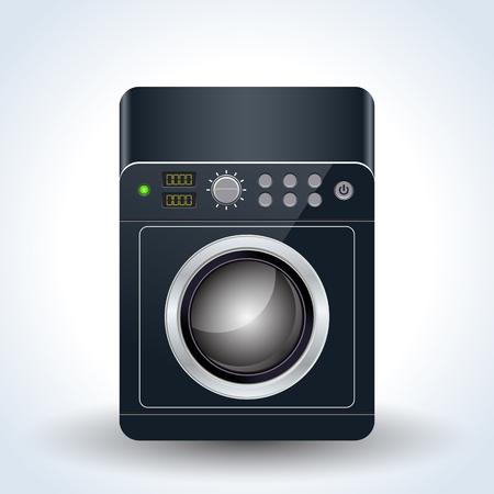 Washing machine realistic vector icon