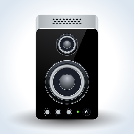 Loudspeaker realistic vector icon