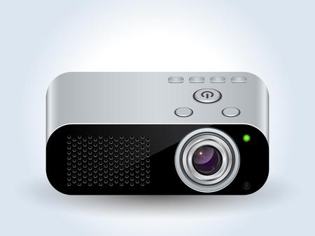 Multimedia projector realistic vector icon Illustration