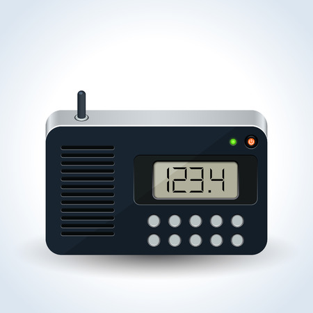 Radio receiver realistic vector icon