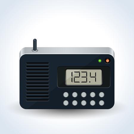 Radio receiver realistic vector icon