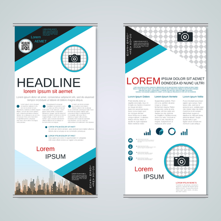 Modern roll-up business banners vector template Banque d'images - 123809417