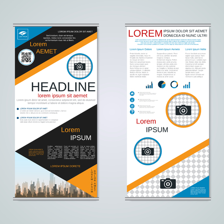 Modern roll-up business banners vector template Banque d'images - 123809418