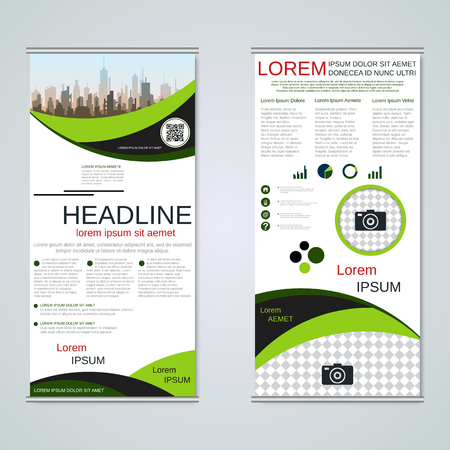 Modern roll-up business banners vector template Banque d'images - 123809723