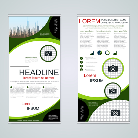 Modern roll-up business banners vector template Banque d'images - 123809729