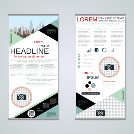 Modern roll-up business banners vector template Banque d'images - 123809726