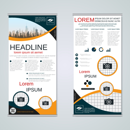 Modern roll-up business banners vector template Banque d'images - 123809738