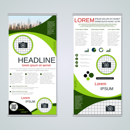 Modern roll-up business banners vector template Banque d'images - 123809740