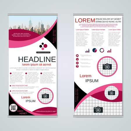 Modern roll-up business banners vector template Banque d'images - 123809741