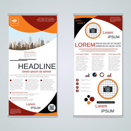 Modern roll-up business banners vector template Banque d'images - 123809742
