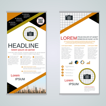 Modern roll-up business banners vector template Banque d'images - 123809899
