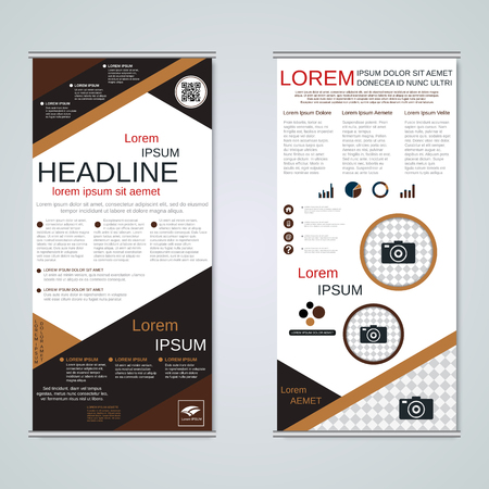 Modern roll-up business banners vector template Banque d'images - 123809896