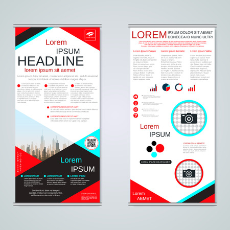 Modern roll-up business banners vector template Banque d'images - 123809894