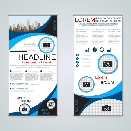 Modern roll-up business banners vector template Banque d'images - 123809897