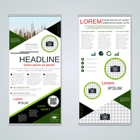 Modern roll-up business banners vector template Banque d'images - 123809898