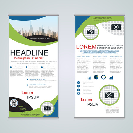Modern roll-up business banners vector template Banque d'images - 123809895