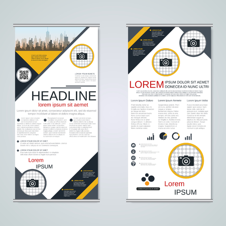Modern roll-up business banners vector template Banque d'images - 123813132