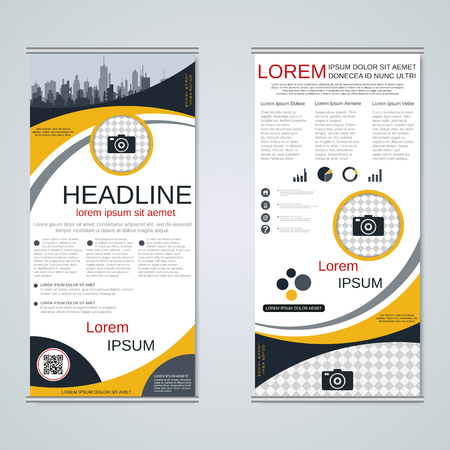 Modern roll-up business banners vector template Banque d'images - 123813136