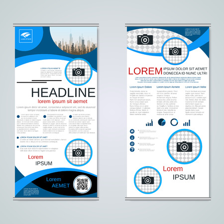Modern roll-up business banners vector template Banque d'images - 123813137