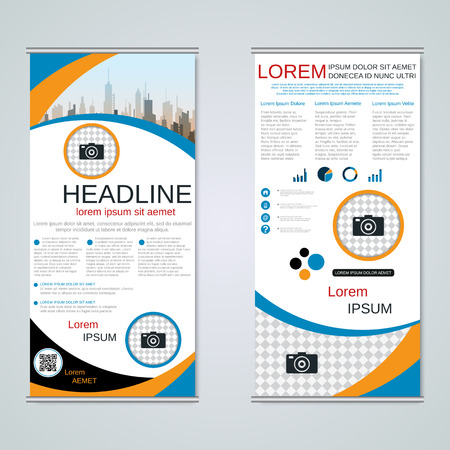 Modern roll-up business banners vector template Banque d'images - 123813139