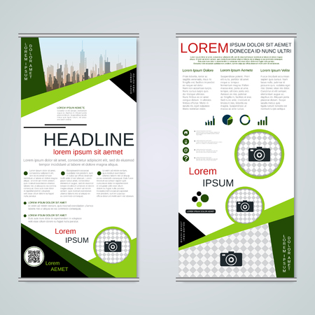Modern roll-up business banners vector template Banque d'images - 123813141