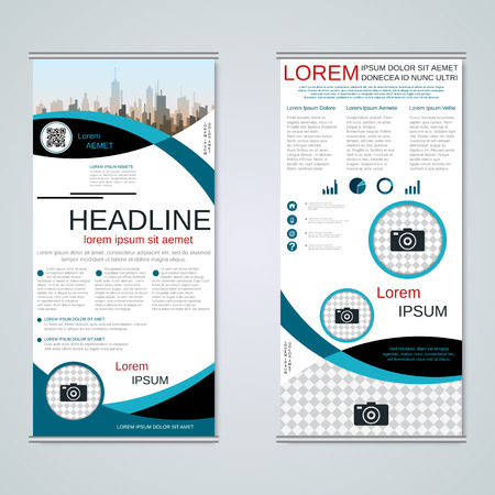Modern roll-up business banners vector template Banque d'images - 123813142