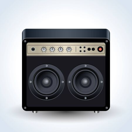 Guitar amplifier realistic vector icon