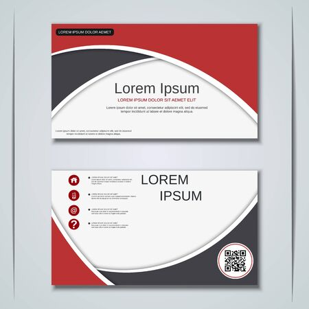 Modern business visiting card vector design template Banque d'images - 128350234