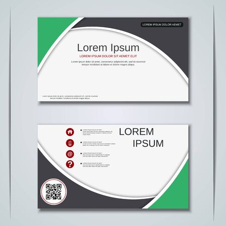 Modern business visiting card vector design template Banque d'images - 128350237