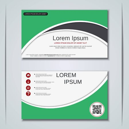 Modern business visiting card vector design template Banque d'images - 128350235