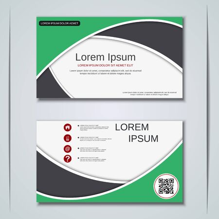 Modern business visiting card vector design template Banque d'images - 128350238