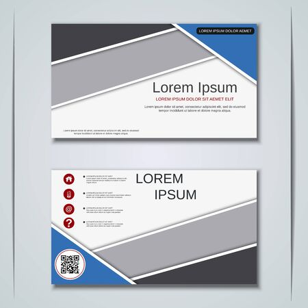 Modern business visiting card vector design template Banque d'images - 128126982