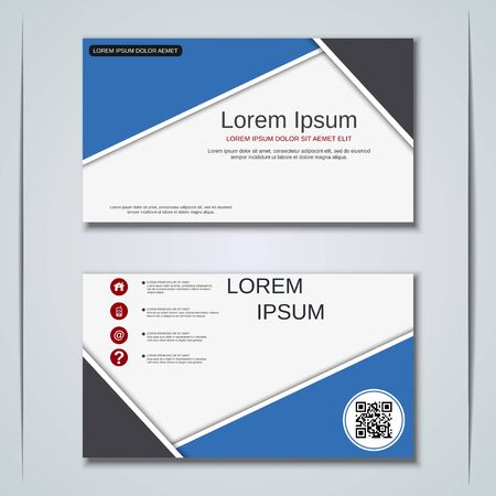 Modern business visiting card vector design template Banque d'images - 128126983