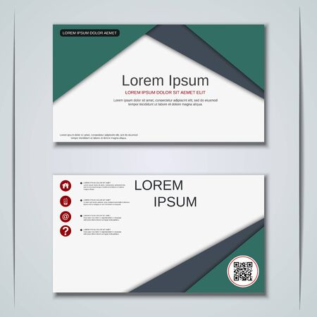 Modern business visiting card vector design template Banque d'images - 129790850