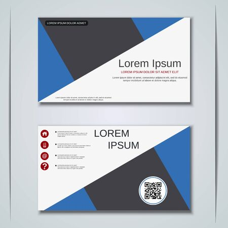 Modern business visiting card vector design template Banque d'images - 129790849