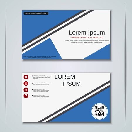 Modern business visiting card vector design template Banque d'images - 129790846