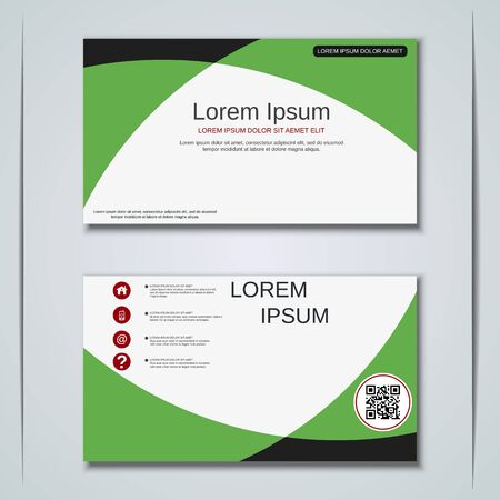Modern business visiting card vector design template Banque d'images - 129791014
